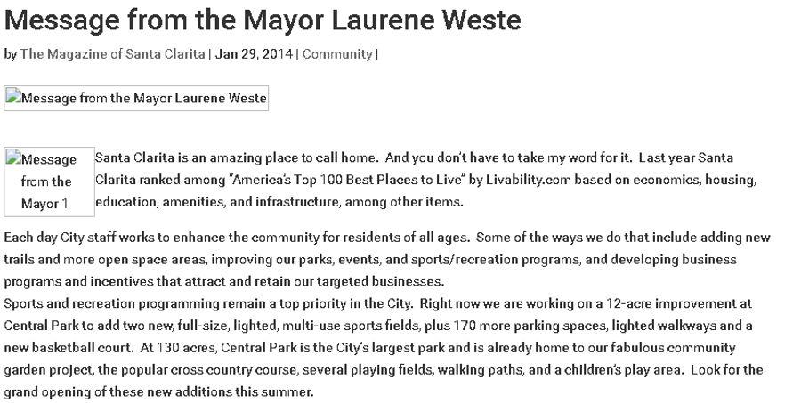 finest selection 09c89 0ee77 Message from the Mayor Laurene Weste - SCVi, iLEAD's ...