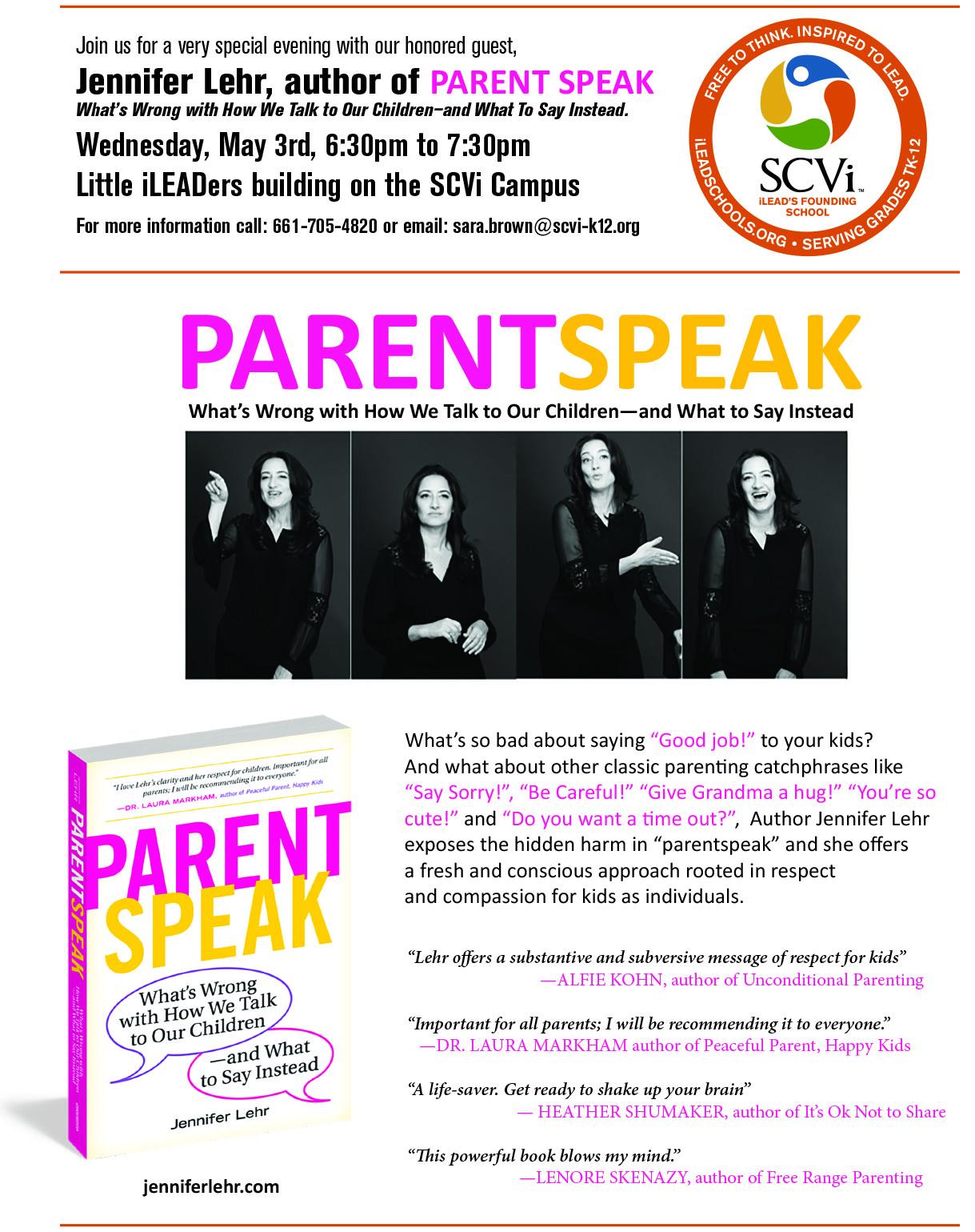FREE Workshop from Jennifer Lehr, Author of 'Parent Speak ...