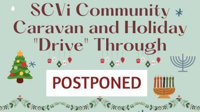 SCVi Charter School Caravan and Holiday Drive-Through postponed