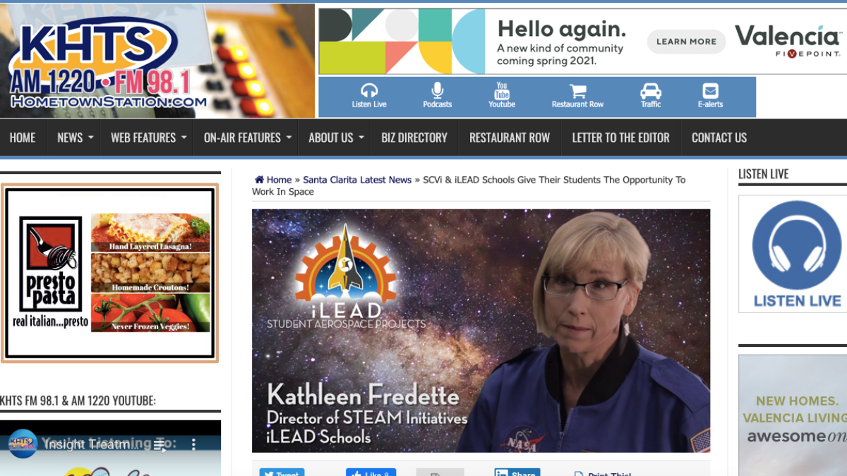 SCVi and iLEAD Learners DreamUp to Space