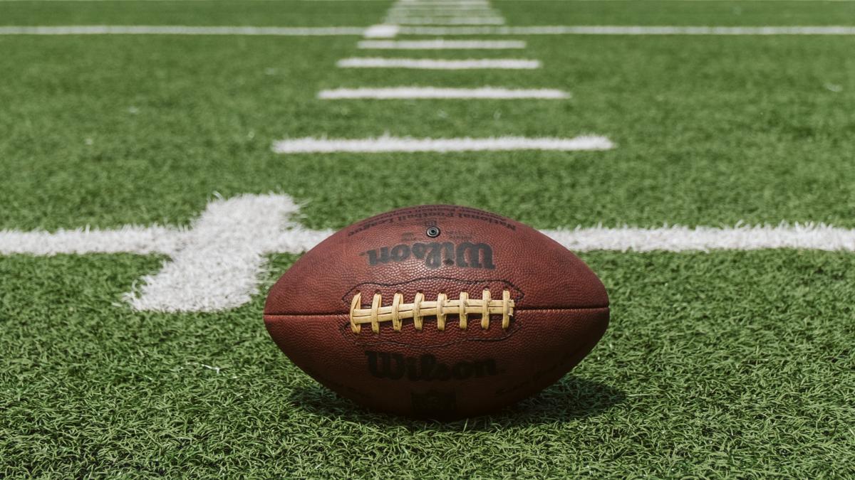 football at yard line