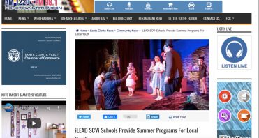 KHTS features SCVi Charter School Summer Arts program